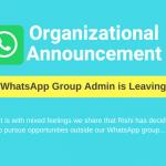 WhatsApp humor, Group Admin jokes